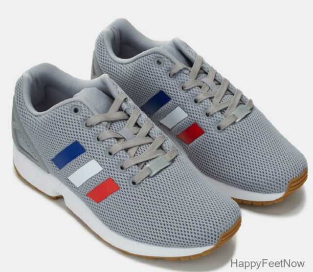 finest selection 0ea0a 39867 adidas Originals ZX Flux Running Shoes Men's Size US 8.5 Grey Tricolor  Bb2768