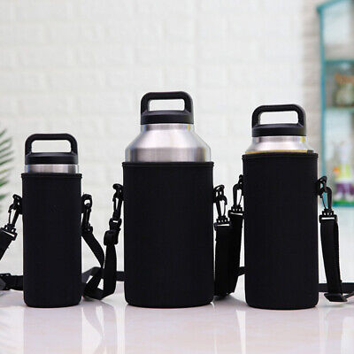 2L//2000ml Travel Stainless Steel Tea Water Bottle Carrier Insulated Bag Holder A