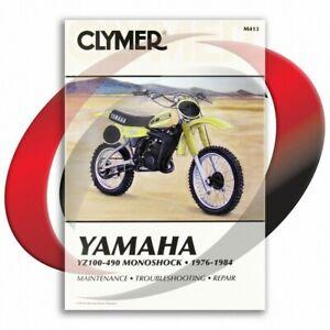 1982-1984-Yamaha-YZ490-Repair-Manual-Clymer-M413-Service-Shop-Garage