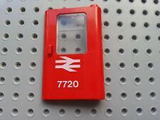 LEGO BRICKS - 1 PIECE (4181pb025 & 4183) VINTAGE TRAIN DOOR RH BRITISH RAIL 7720
