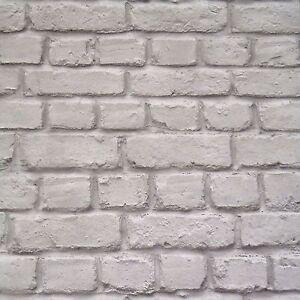 Gris-Effet-Brique-Papier-Peint-Rasch-226720-Neuf-Pierre