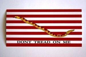 1st-NAVY-JACK-FLAG-Dont-Tread-On-Me-Snake-Logo-Vinyl-Bumper-Sticker-Decal