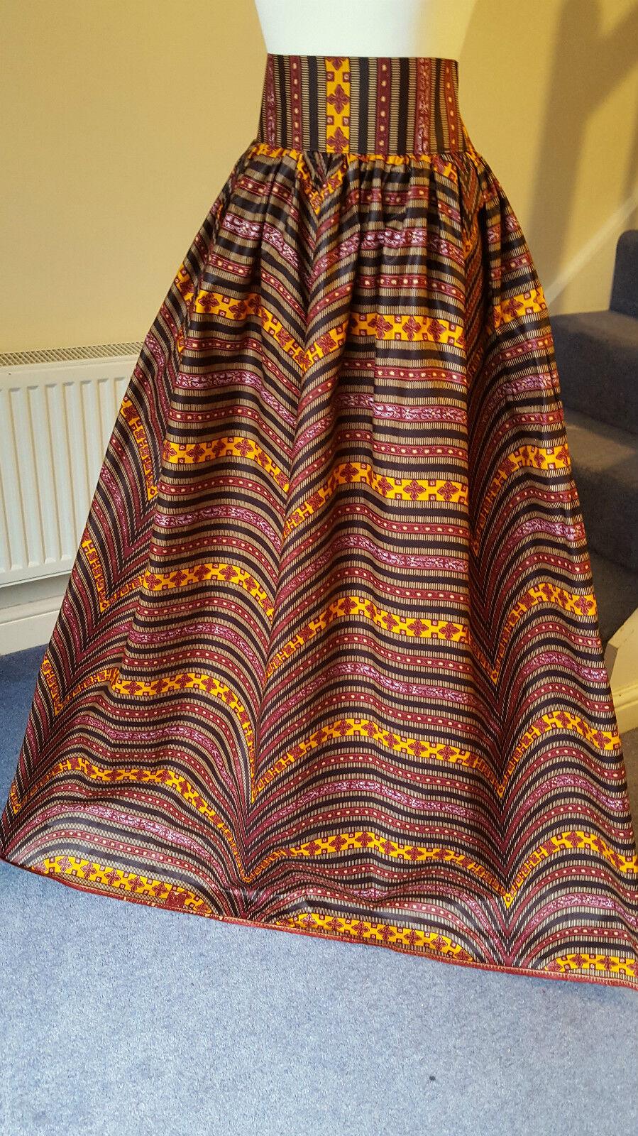 African Print Maxi Skirt wax print Maxi skirt, high waist maxi African wax print