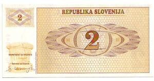 Slovenia-2-tolarjev-1990-FDS-UNC-pick-2-lotto-3325