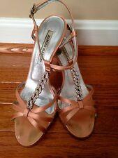 MANOLO BLANIK Pink Satin Crystal Strappy Sandal- Size 6.5