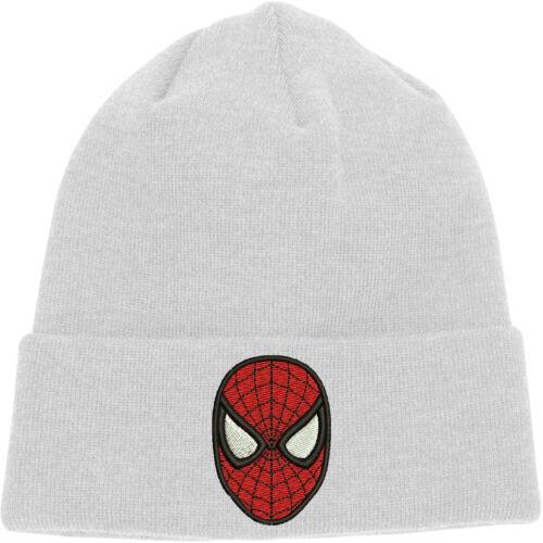 Spiderman Beanie,Spiderman Face Hat,Embroidered Design