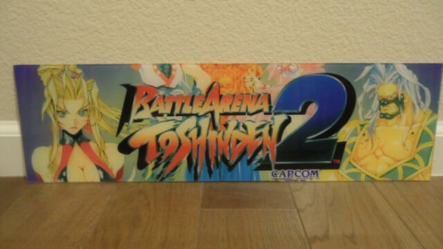 Capcom Battle Arena Toshinden 2 Arcade Cabinet Marquee For Sale Online