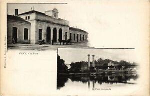 CPA-Gray-La-Gare-Le-Pont-Suspendu-636619