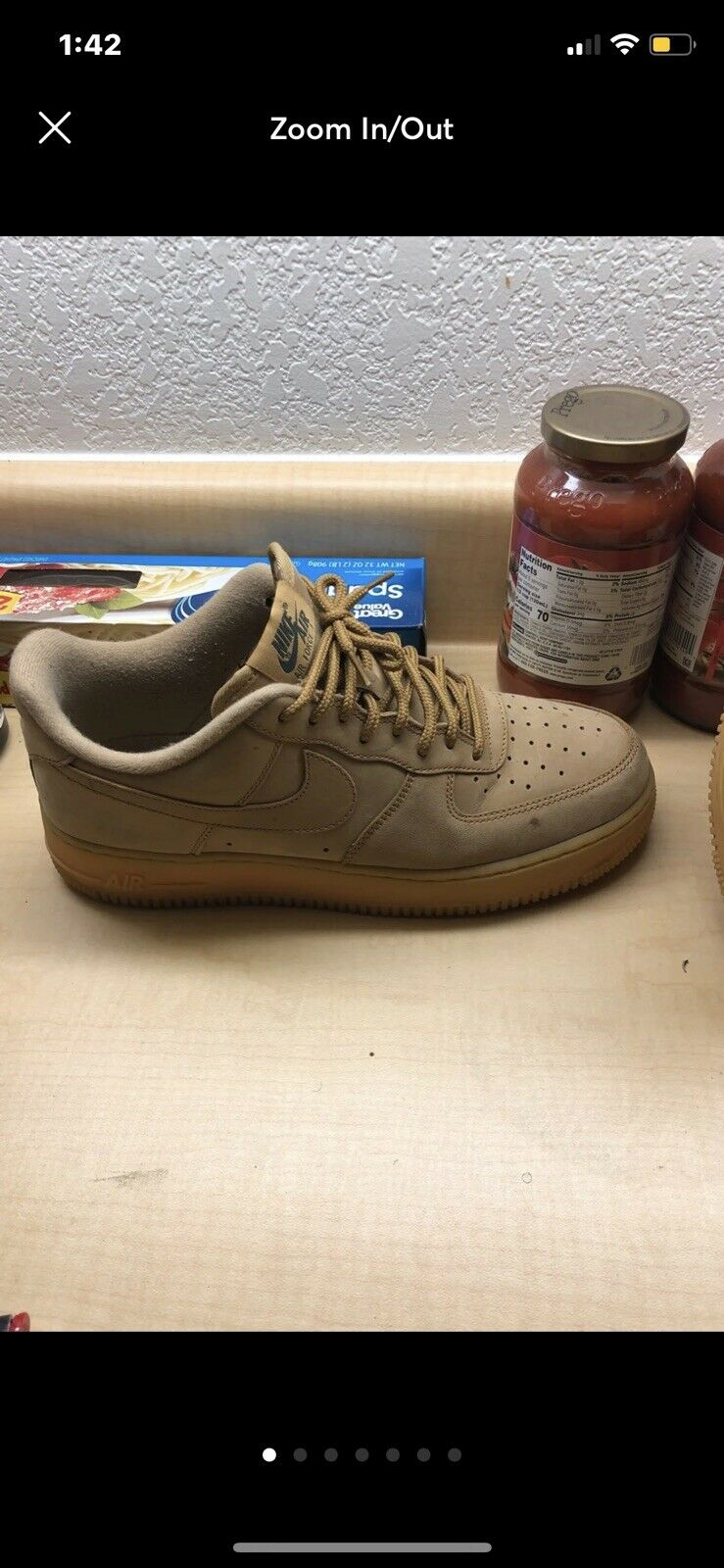Nike Air Force Wheat Low Size 9