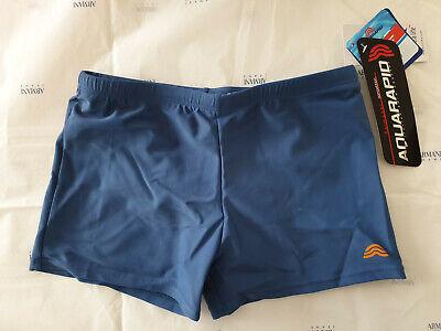 Costume Da Bagno Aquarapid Bambino Boxer Bert Acciaio Piscina Mare Swimsuit Blu