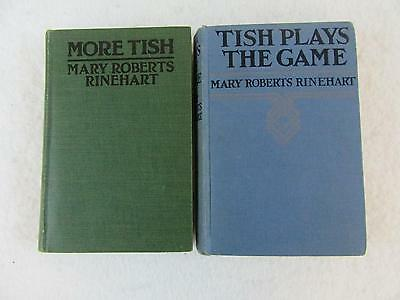Lot of 2 Mary Roberts Rinehart MORE TISH & TISH PLAYS THE GAME Grosset & Dunlap