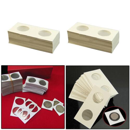 100pcs 40mm Assorted Mylar Cardboard Coin Holders Lighthouse Cover Case S KJU