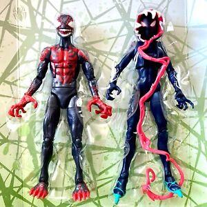 Ghost-Spider-amp-Miles-Morales-maximale-Venom-Marvel-Legends-venompool-Wave-keine-BAF