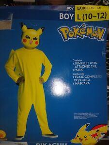 Pokemon-Pikachu-Boy-Costume-Size-Large-10-12