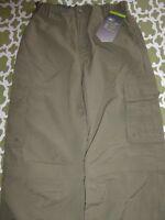 Rei Sahara Boy 14-16 L Olive Green Khaki Camp Zip Off Pants To Shorts Bsa