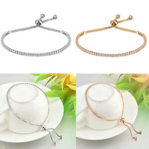 Damen-Frauen-Funkelnde-Kristall-Strass-Armband-Hochzeit-Braut-Schmuck-Geschenk