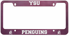 Youngstown State University -Metal License Plate Frame-Pink