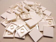 x50 NEW Lego Tiles White Smooth Finishing Tile 2x2 2 x 2 MODULAR BUILDINGS