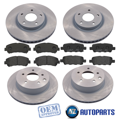 1.6 REAR 2 BRAKE DISCS AND PADS /& HANDBRAKE SHOES SET FOR NISSAN JUKE 1.5 DCi