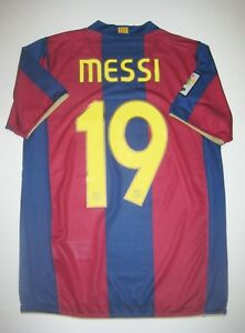 promo code 1acef 38b58 Details about Nike FC Barcelona Shirt Kit 2007-2008 Jersey FCB Lionel Messi  Argentina Home