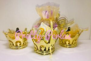 Image Is Loading 12PC Fillable Baby Shower Favors Crown Prince Princess