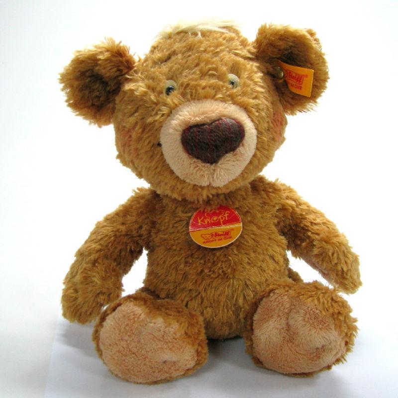 VINTAGE STEIFF TEDDY BEAR GERMANY KNOPF IM OHR STUFFED BUTTON LABEL #014444