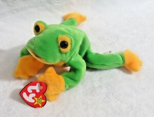 113c306a0ff TY Beanie Baby - 1997 Smoochy The Frog 8 in - NEW WITH TAGS FREE ...