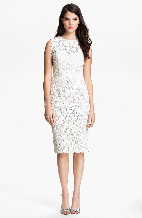 Jill Stuart Illusion Yoke Lace Lace Lace Sheath Dress ( Size 6) 6a0ce7