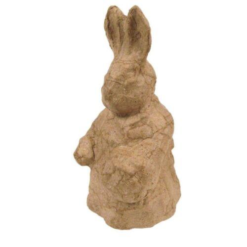 Decopatch Paper Papier Mache Easter Bunny Rabbit Holding a Basket for Decoupage