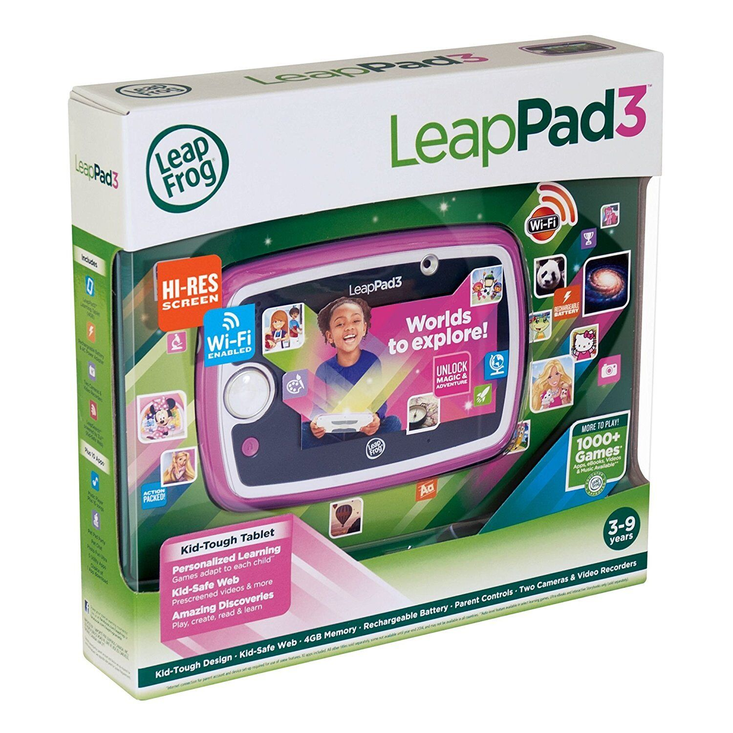 LeapFrog LeapPad 3 Learning Tablet (Pink)