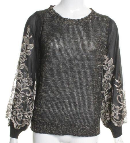 Womens Oversized Knit Jumper Ladies Top Girls Sweatshirt Black Beige 8 10 12