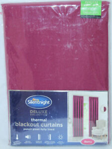 NEW-SILENT-NIGHT-BERRY-THERMAL-BLACKOUT-FULLY-LINED-PLEATED-CURTAINS-W46-034-D72-034