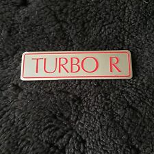 Bentley Turbo R 1989-97 Rear Chrome Boot Trunk Badge Red Letters OEM UB75465