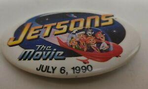 JETSONS-The-Movie-Pinback-Original-1990-Promo-Animated-Vintage-Film-Pin-Button
