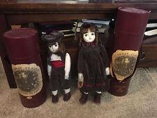 NIB Lot of 2 Sankyo Porcelain Doll Collection de Poupees Claudie et Claude
