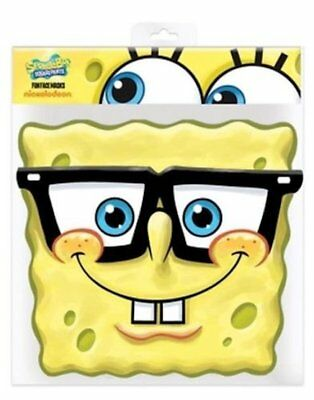 ** SPONGE BOB SQUARE PANTS PARTY MASK FANCY DRESS NEW ** MENS LADIES CHILD