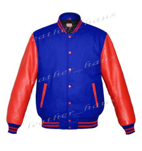 Genuine Leather Sleeve Letterman College Varsity Kid Wool Jackets RSL-RSTR-RB-LE