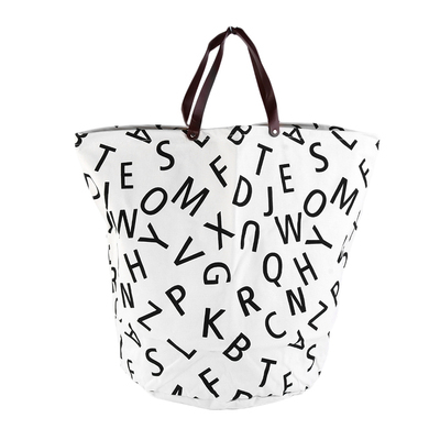 Dirty Clothing Clothes Laundry Basket Can Stand Canvas Storage Bag Organizer LKC
