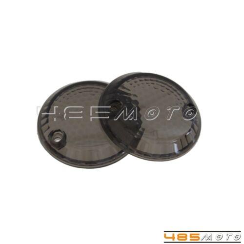 2X Smoke Lens Cover Turn Signal Light For Suzuki Intruder 1500 //VL1500 1998-2003