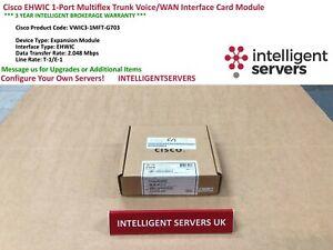 Cisco Ehwic 1 Port Multiflex Trunk Voice/wan Interface Card-vwic 3-1mft-g703-3 Fr-fr Afficher Le Titre D'origine