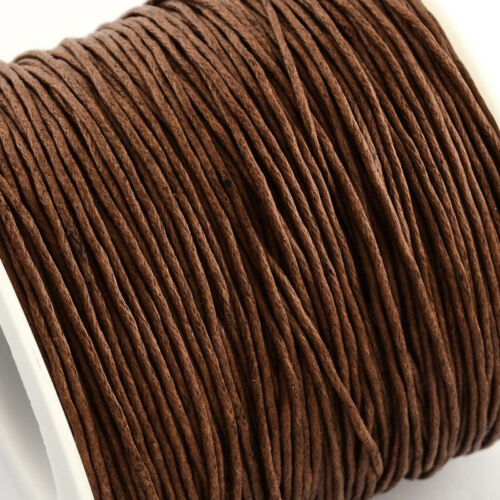 Waxed Cotton Cord Thread 1mm Saddle Brown for bead stringing bracelet necklace