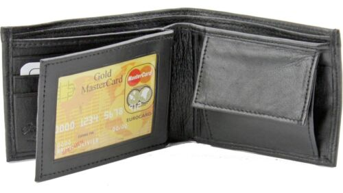 Mens Genuine Leather Bifold Wallet Coin Key Case Pocket Card ID Billfold Holder