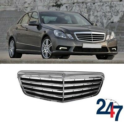 Front Grille Main Centre Black /& Chrome Mercedes E-Class W212 2009-2013 New