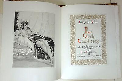 Du Bellay - La vieille courtisane. Texte et illustrations gravés par COURBOULEIX