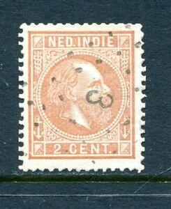 Nederlands Indie, puntstempel 3 SOERABAIJA op nvph 6 E, type 2 ;