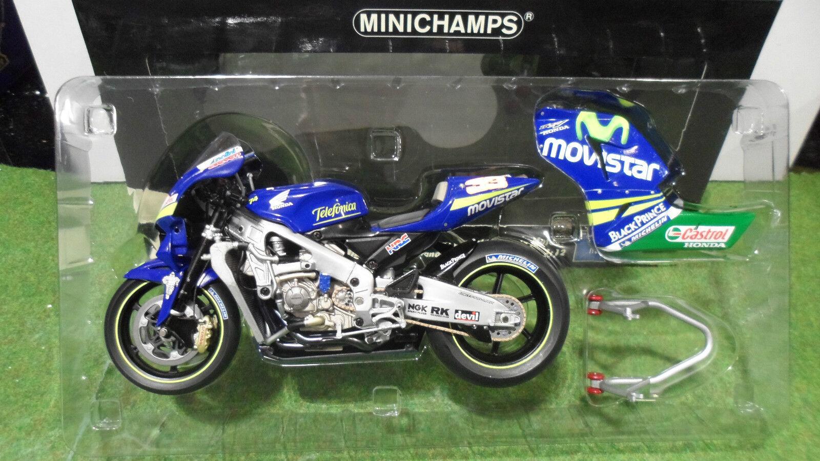 mas barato MOTO MOTO MOTO HONDA RC211V GP 2005 Marco Melandri 1 12 Minichamps 122051033 miniature col  soporte minorista mayorista