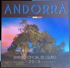 KMS Kursmünzensatz Andorra 2016 BU im Folder - 1 Cent bis 2 Euro - VVK