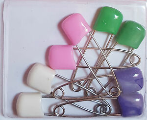 4 Pack Safety Locking Nappy Pins