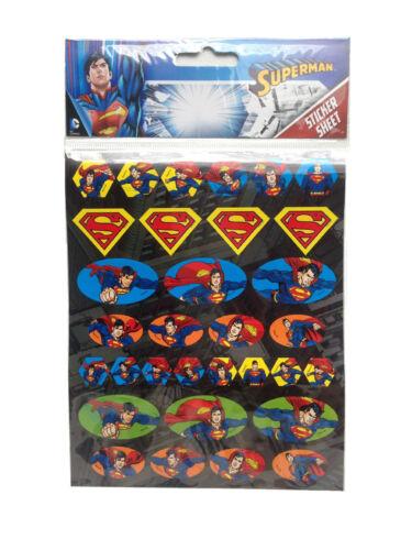 4 pcs SUPERMAN kids autocollant feuilles party favors sac remplissage logo autocollants cadeau