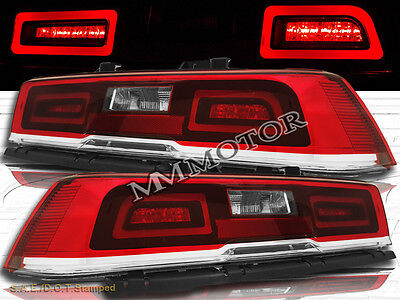 LED Black Clear Tail Lights Pair For 2014-2015 Chevy Camaro